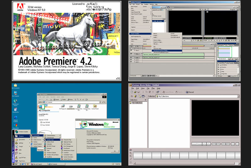 adobe premiere 4 and windows movie maker