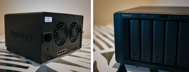 Synology NAS video production product with detail
