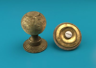 3D model of brass door handle and bell for animation project