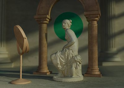 Style Frame for Motion Graphics Manchester Project using Classical Imagery