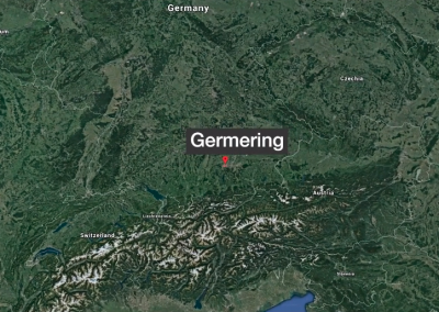 Map Showing Germering near Munich