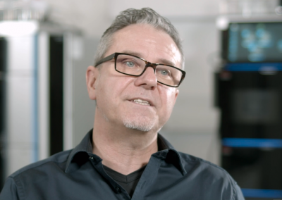 Scientist speaks about chromatography instruments in product development video
